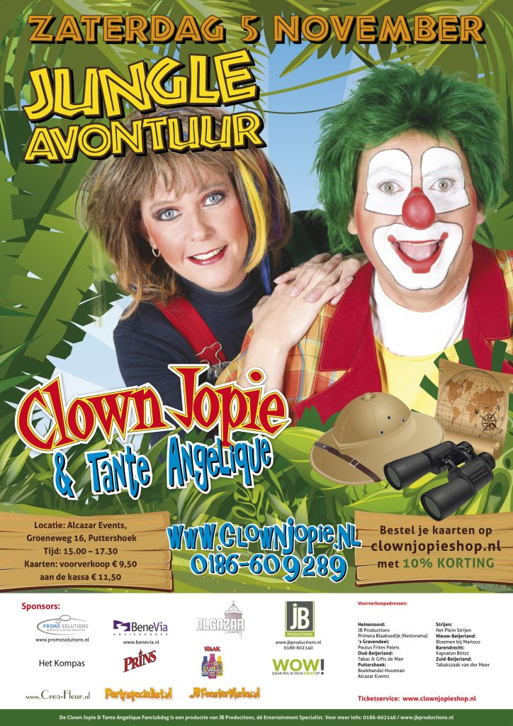 poster-jungle-avontuur-clown-jopie-en-tante-angelique