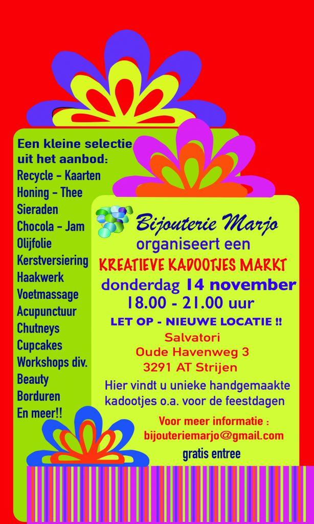 Creatieve kadootjesmark in het Salvatori Strijen - Hoeksche Waard - Hoeksche Waard Nieuws
